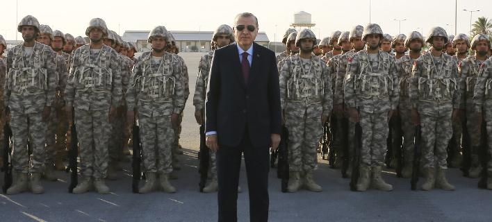 Νέες απειλές Ερντογάν για Αιγαίο και Κύπρο / Φωτογραφία: Kayhan Ozer, Pool via AP
