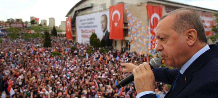 Ο Τούρκος πρόεδρος, Ρετζέπ Ταγίπ Ερντογάν. Φωτογραφία: AP