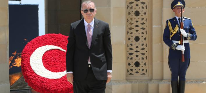 Ρετζέπ Ταγίπ Ερντογάν (Φωτογραφία: Presidency Press Service via AP, Pool)
