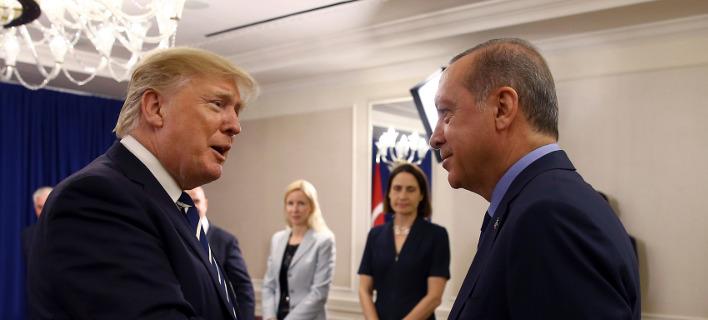 Τραμπ και Ερντογάν συναντήθηκαν στη Νέα Υόρκη / Φωτογραφία: (Pool Photo via AP)