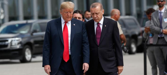 Ο Ντόναλντ Τραμπ & ο Ρετζέπ Ταγίπ Ερντογάν (Φωτογραφία: AP Photo/Pablo Martinez Monsivais)