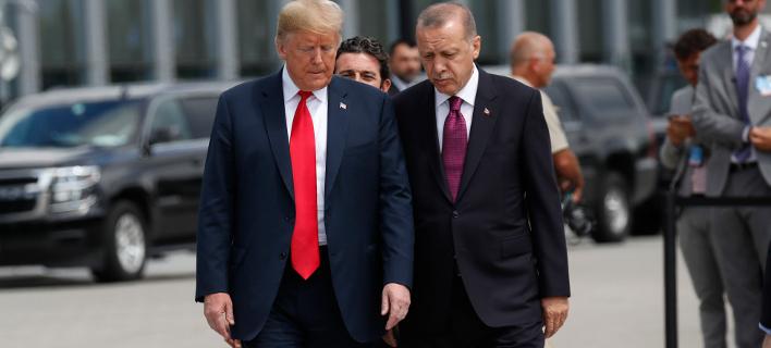 Ντόναλντ Τραμπ & Ρετζέπ Ταγίπ Ερντογάν (Φωτογραφία: AP Photo/Pablo Martinez Monsivais)