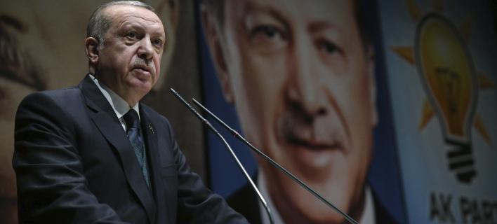 Ο Ταγίπ Ερντογάν (Φωτογραφία: AP/ Murat Cetinmuhurdar)