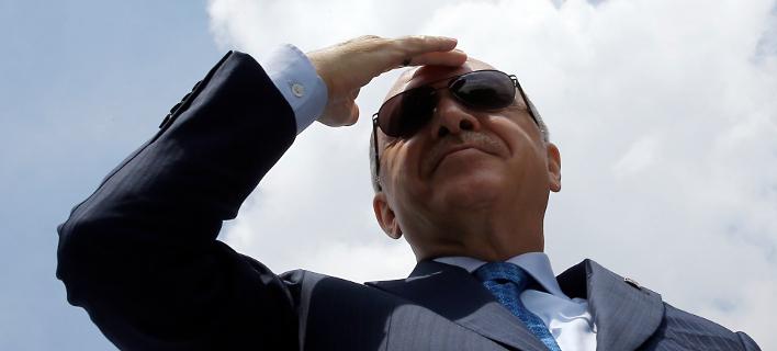 Νέα επίθεση Ερντογάν κατά οίκων αξιολόγησης για την αναβάθμιση της Ελλάδας-Φωτογραφία: Presidential Press Service/Pool via AP