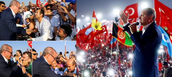 Φιέστα εξουσίας από τον Ερντογάν -Το πλήθος του ζητούσε ποινή θανάτου: «Αν ο λαός το θέλει... » είπε