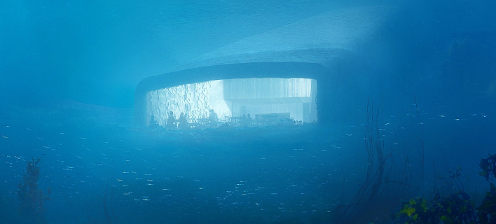 Άποψη του εστιατορίου από τον βυθό της θάλασσας / Φωτογραφία: snohetta.com