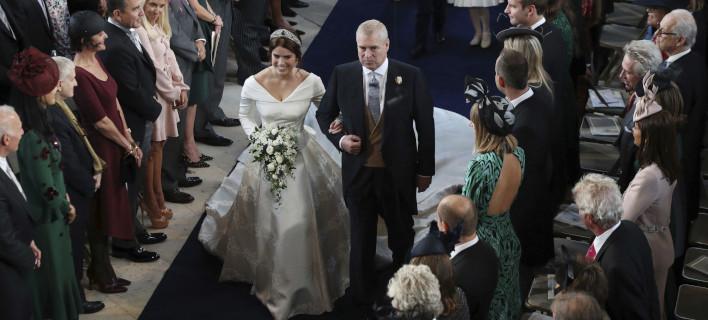 Η πριγκίπισσα Ευγενία με τον πατέρα της, Αντριου /Φωτογραφία: AP