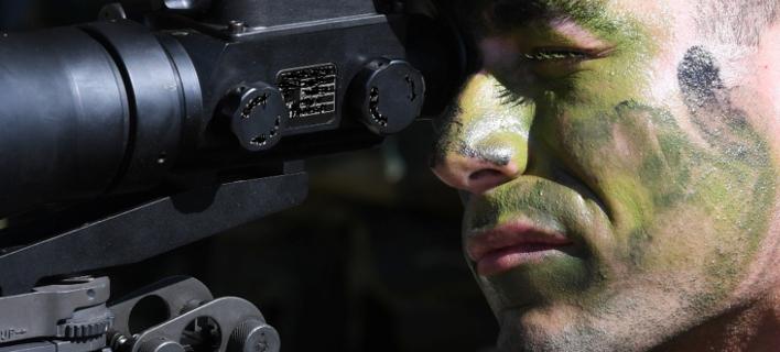 Στρατιωτικός σε ώρα άσκησης / Φωτογραφία: EUROKINISSI/ΓΕΣ