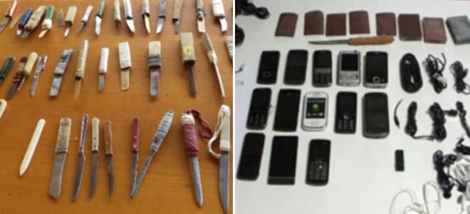 Ολα τα ευρήματα, κινητά, μαχαίρια, σχέδια απόδρασης που βρέθηκαν στις φυλακές Κο