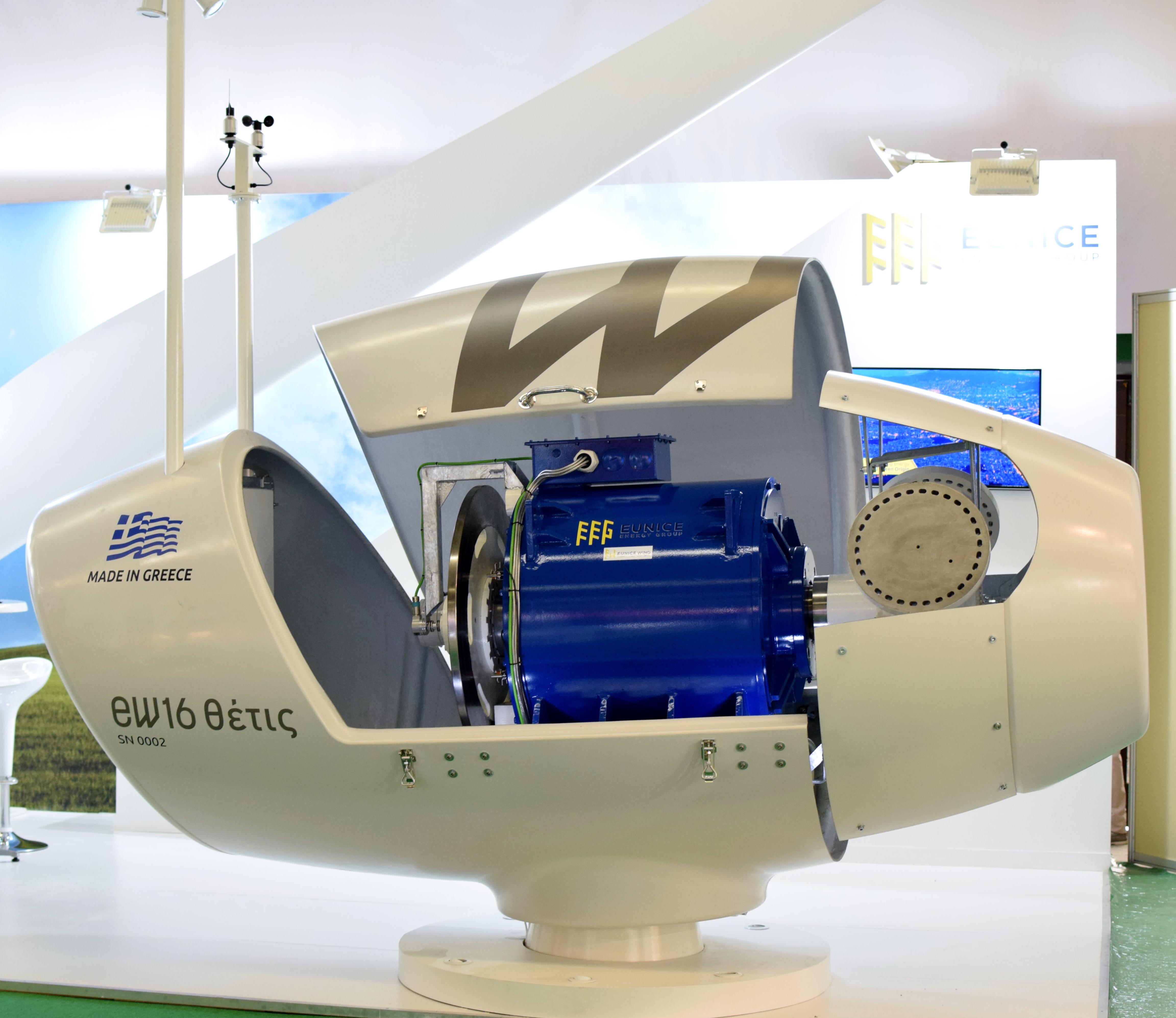 Η EW16 Θέτις, ισχύος 50 κιλοβάτ, ενσωματώνει σύγχρονη τεχνολογία με στόχο τη μέγιστη αποδοτικότητα και διάρκεια ζωής με την ελάχιστη συντήρηση και με δυνατότητα προσαρμογής στις τοπικές συνθήκες του σημείου εγκατάστασης (θάλασσα, βουνό, ένταση ανέμων κλπ.)