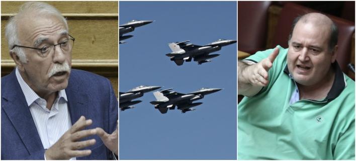 «Αερομαχίες» Φίλη-Βίτσα για τα F16 στην Βουλή -Απών ο Πάνος Καμμένος