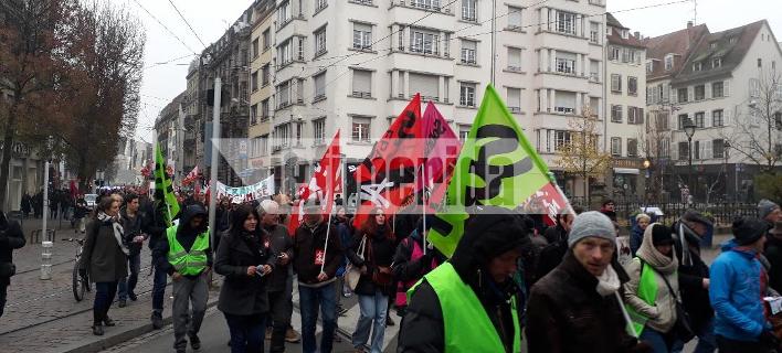 Το iefimerida στη διαδήλωση των συνδικάτων στο Στρασβούργο κατά των μεταρρυθμίσεων Μακρόν [εικόνες]