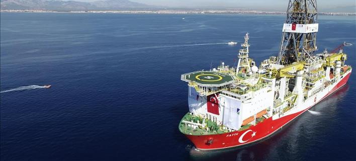 Το τουρκικό ερευνητικό πλοίο Φατίχ (Πορθητής) θα κάνει έρευνες εντός της τουρκικής υφαλοκρηπίδας- φωτογραφία Anadolu