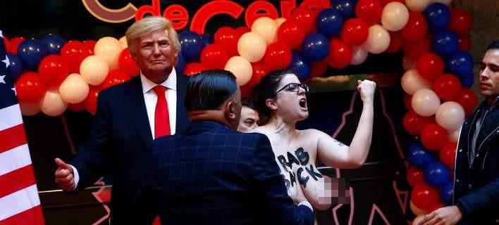 Στη Μαδρίτη, μια Femen πιάνει τον Ντόναλντ Τραμπ από τα αρ@@ια [εικόνες]