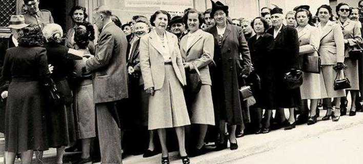 Οι Αθηναίες ψηφίζουν για πρώτη φορά -Μια άλλη, κομψή εποχή [εικόνα]