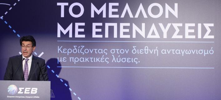 Σχεδιάζονται επενδύσεις 16 δισ. ευρώ τα επόμενα τέσσερα χρόνια, σύμφωνα με τον πρόεδρο του ΣΕΒ, Θεόδωρο Φέσσα/Φωτογραφία: Eurokinissi