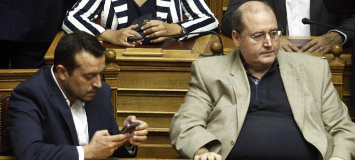 Οι Νίκος Παππάς και Νίκος Φίλης / Φωτογραφία: EUROKINISSI/ΓΙΩΡΓΟΣ ΚΟΝΤΑΡΙΝΗΣ