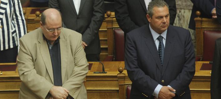 Ο Νίκος Φίλης με τον Πάνο Καμμένο/ Φωτογραφία: EUROKINISSI- ΧΡΗΣΤΟΣ ΜΠΟΝΗΣ