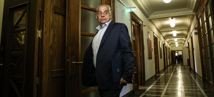Ο Αλέκος Φλαμπουράρης στο Ελληνικό Κοινοβούλιο/ Φωτογραφία: SOOC- Nick Paleologos