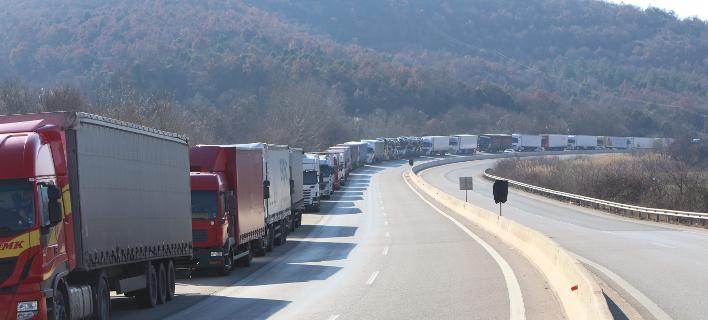 Απαγόρευση κυκλοφορίας φορτηγών αυτοκινήτων/Φωτογραφία: Eurokinissi