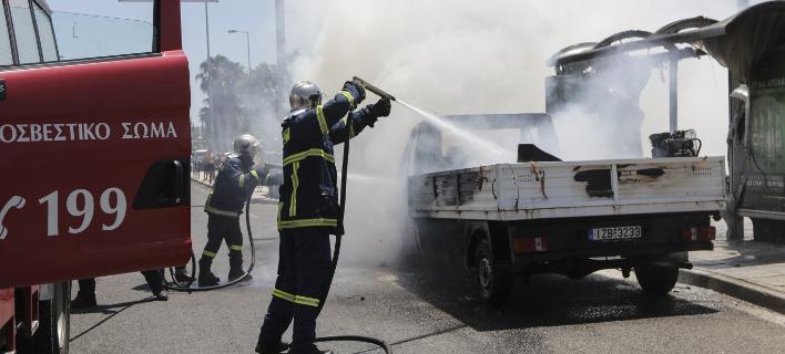 Φωτιά σε φορτηγό στην Κρήτη /Φωτογραφία αρχείου: EUROKINISSI