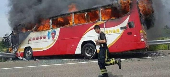 Τραγωδία στην Ταϊβάν -Τουλάχιστον 26 νεκροί από φωτιά σε τουριστικό λεωφορείο [εικόνες]