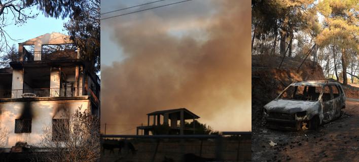 Νέες αναζωπυρώσεις στο Καπανδρίτι -Δάση, σπίτια και ΙΧ έγιναν στάχτη [εικόνες]