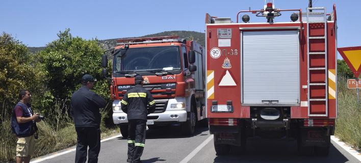 Φωτιά ξέσπασε στο Κορωπί (Φωτογραφία αρχείου: EUROKINISSI/ ΒΑΣΙΛΗΣ ΠΑΠΑΔΟΠΟΥΛΟΣ)