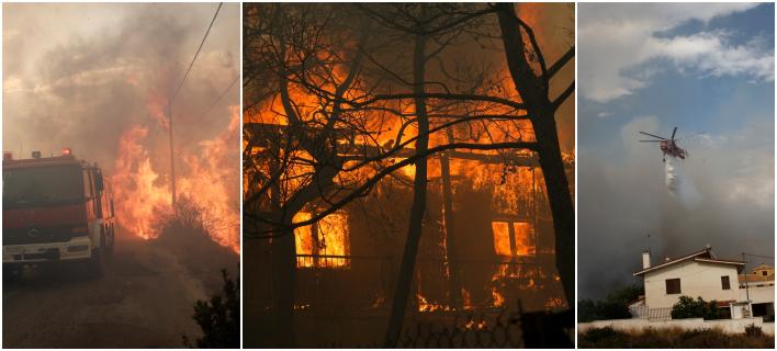 Σε κατάσταση εκτάκτου ανάγκης η Αττική -Ανεξέλεγκτες οι φωτιές [βίντεο]