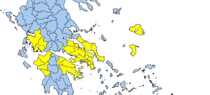 Πολύ υψηλός ο κίνδυνος πυρκαγιάς σήμερα -Ποιες περιοχές κινδυνεύουν [χάρτης]