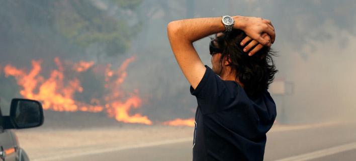 Καταστροφή από τη φωτιά /Φωτογραφία Αρχείου: Intime news