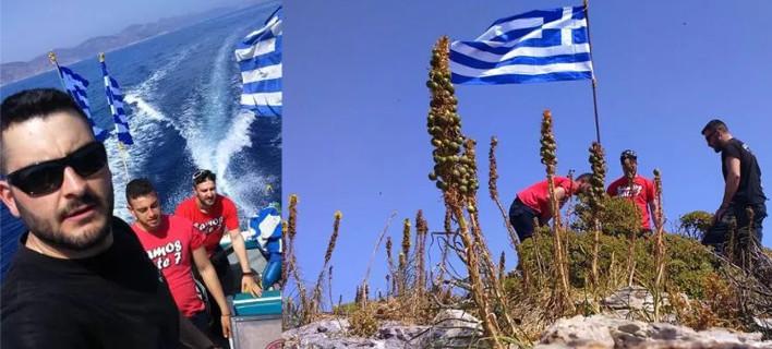 Ο Καμμένος «αδειάζει» τους 3 νεαρούς που έβαλαν σημαία στη βραχονησίδα