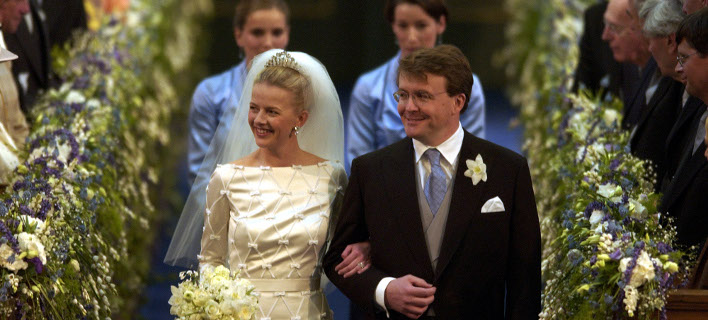 Ο πρίγκιπας Γιόχαν Φρίσο και η σύζυγός του Μαμπέλ (Φωτογραφία: AP)