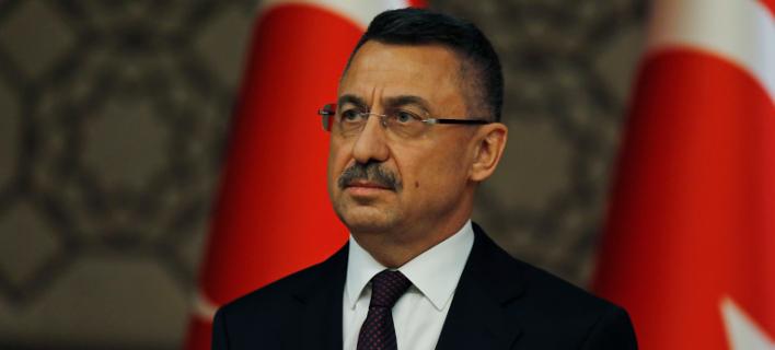 Ο αντιπρόεδρος της Τουρκίας, Φουάτ Οκτάι (Φωτογραφία: ΑΡ/Burhan Ozbilici)