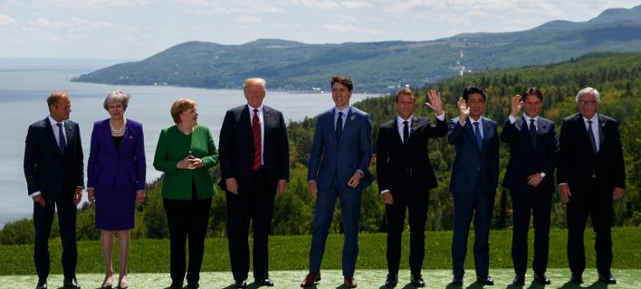 Οι ηγέτες της G7 στον Καναδά /Φωτογραφία: ΑΡ