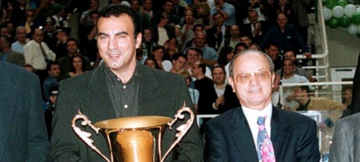 Νίκος Γκάλης και Θανάσης Γιαννακόπουλος /Φωτογραφία: EUROKINISSI