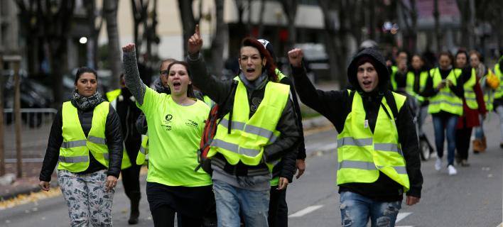 Από τις συγκεντρώσεις διαμαρτυρίας που έγιναν χθες στη Γαλλία/Φωτογραφία: ΑΡ