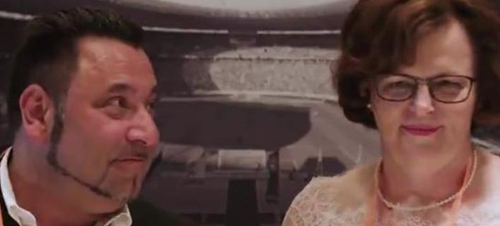 Αυτό το ζευγάρι παντρεύτηκε στο Ολυμπιακό στάδιο του Βερολίνου