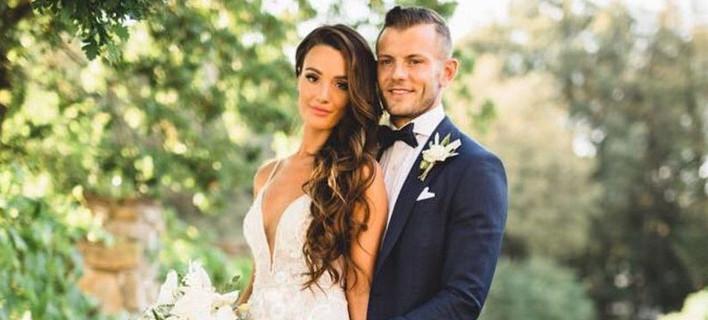 Διάσημος ποδοσφαιριστής της Αρσεναλ παντρεύτηκε Κύπρια [εικόνες]