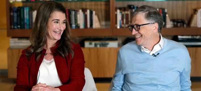 Ο Μπιλ Γκέιτς και η σύζυγός του Μελίντα -Φωτογραφία αρχείου: AP Photo/Elaine Thompson