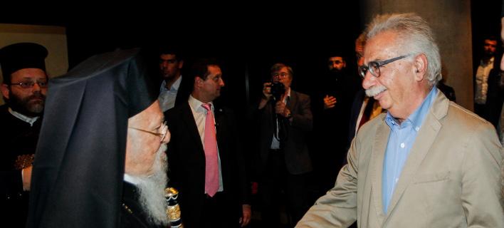 Ο Οικουμενικός Πατριάρχης με τον Κ. Γαβρόγλου -Φωτογραφία αρχείου: Eurokinissi/ΜΠΟΝΗΣ ΧΡΗΣΤΟΣ