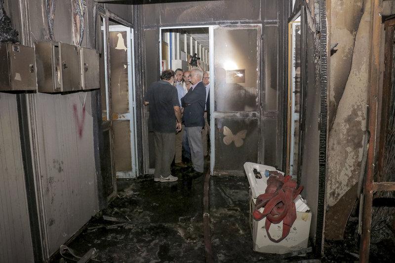 Ο κ. Γαβρόγλου επισκέφθηκε το πανεπιστήμιο Κρήτης μετά την πυρκαγιά
