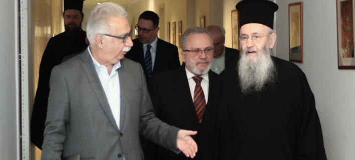 Συνάντηση του Υπ. Παιδείας με την Επιτροπή της Εκκλησίας της Ελλάδας (Φωτο: Eurokinissi)