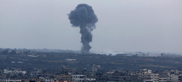 Το Ισραήλ «απάντησε» με αεροπορική επιδρομή/ Φωτογραφία αρχείου: AP- Adel Hana