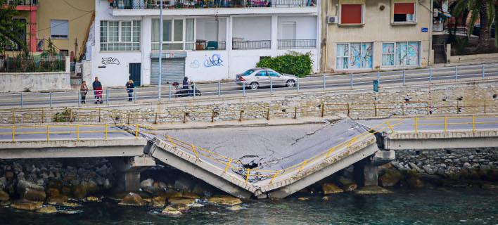 κατάρρευση γέφυρας/Φωτογραφία: Eurokinissi