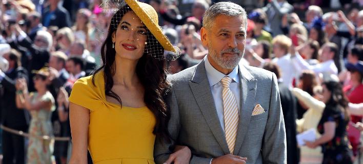 Ο Τζορτζ και η Αμάλ Κλούνεϊ. Φωτογραφία: AP