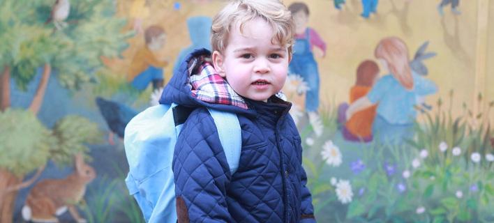 Πρώτη ημέρα στο σχολείο για τον πρίγκιπα Τζορτζ [εικόνες]