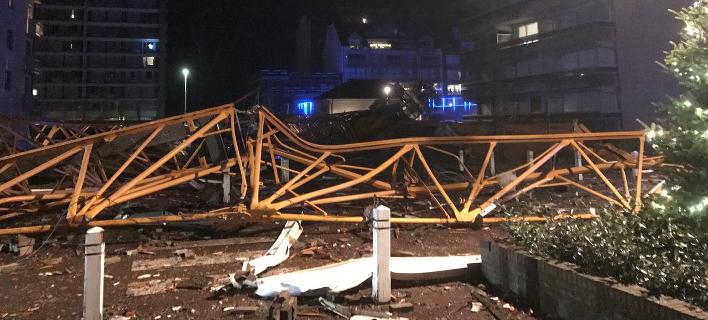 Τραγωδία στο Βέλγιο: Γερανός εργοταξίου έπεσε πάνω σε σπίτια - Ενας νεκρός