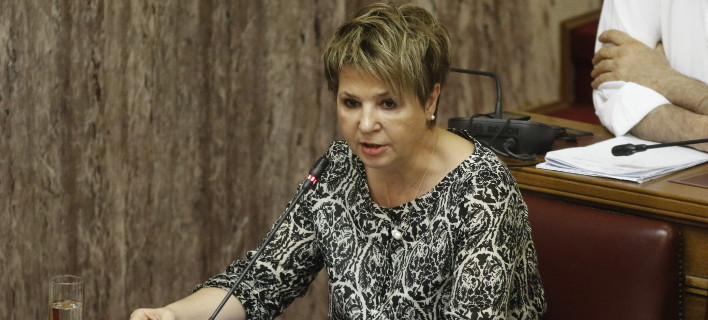 Η Ολγα Γεροβασίλη (Φωτογραφία: EUROKINISSI/ ΓΙΩΡΓΟΣ ΚΟΝΤΑΡΙΝΗΣ)
