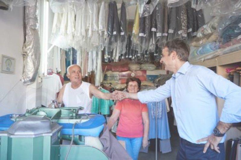 Επίσκεψη Μητσοτάκη στο Λασίθι/ Φωτογραφία ΑΠΕ ΜΠΕ